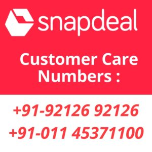 Snapdeal Customer Care Number. Snapdeal toll free number.